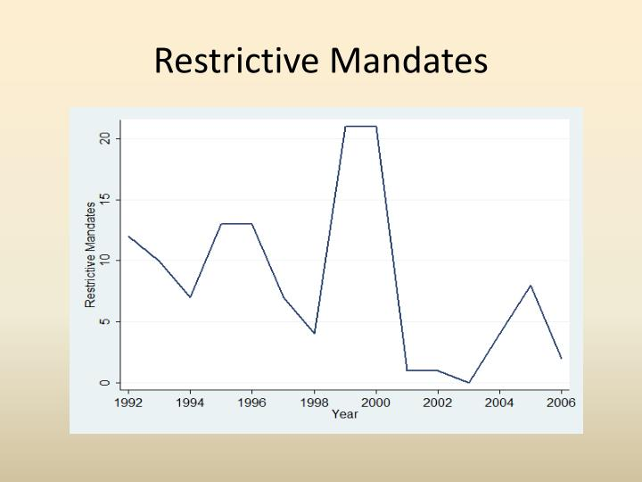 Restrictive Mandates