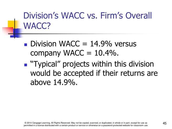 Division's WACC vs. Firm's Overall WACC?