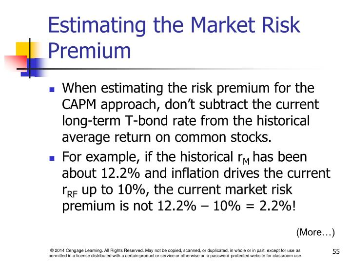 Estimating the Market Risk Premium