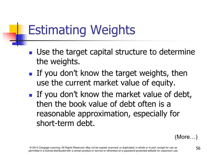 Estimating Weights