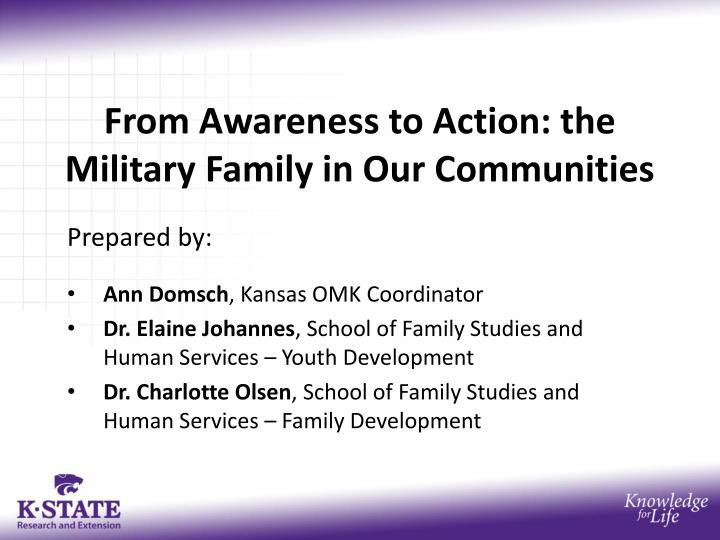 from awareness to action the military family in our communities