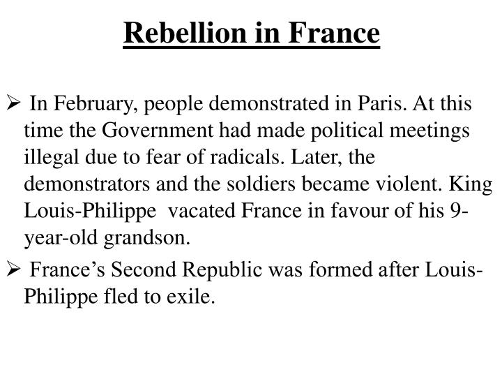 Rebellion in France