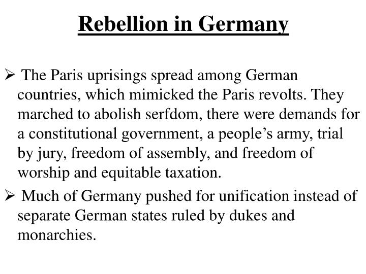 Rebellion in Germany