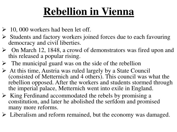 Rebellion in Vienna