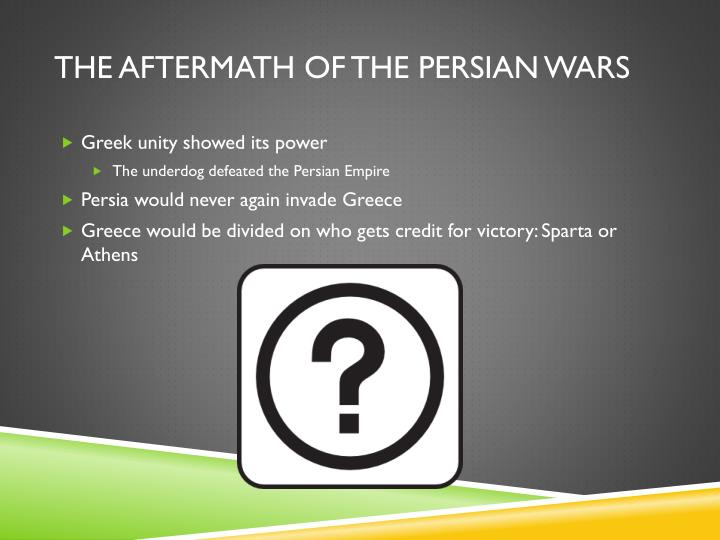 The Aftermath of the Persian Wars