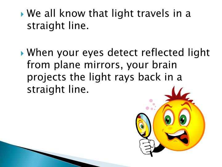 We all know that light travels in a straight line.