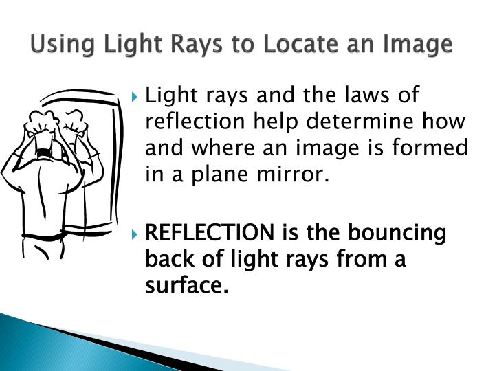 Using light rays to locate an image