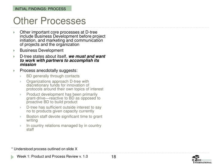 Other Processes
