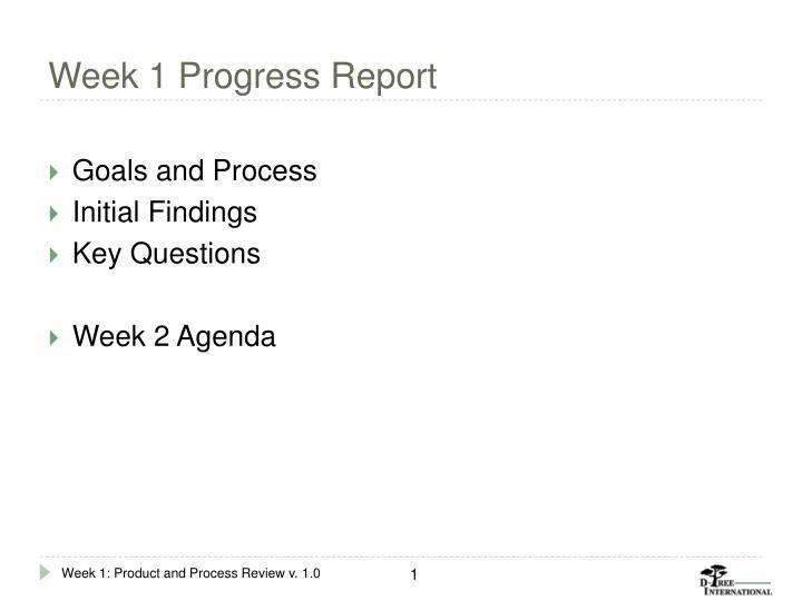 Week 1 Progress Report