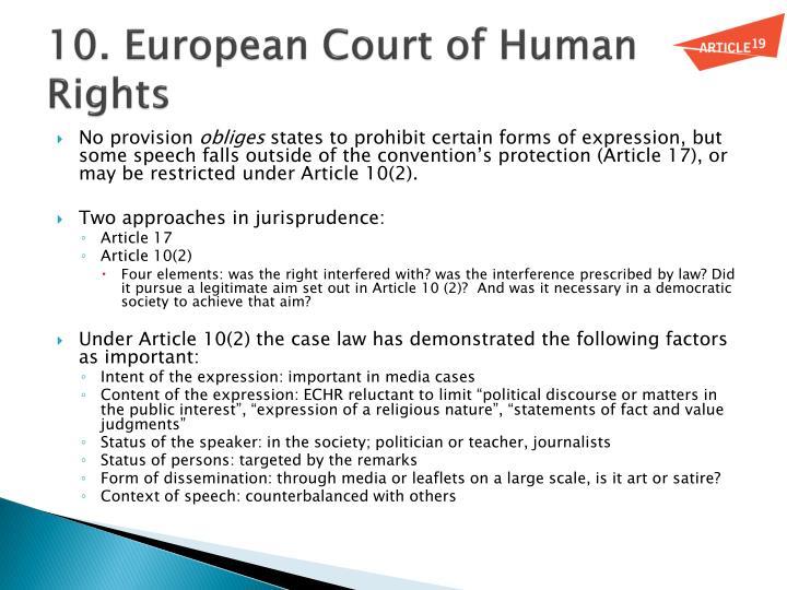 10. European Court of Human