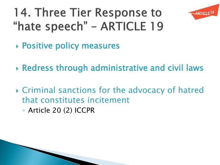 14. Three Tier Response to