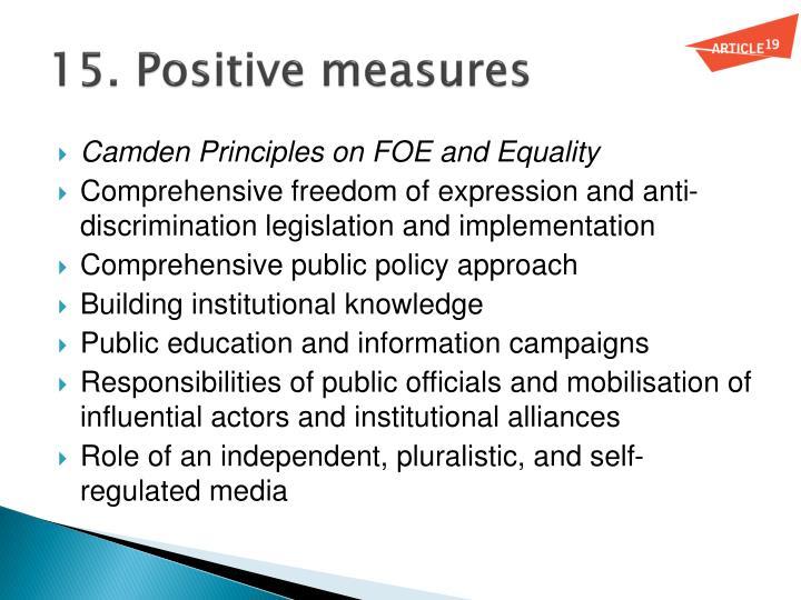 15. Positive measures