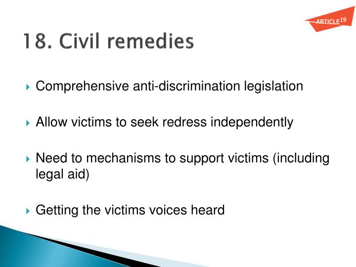 18. Civil remedies