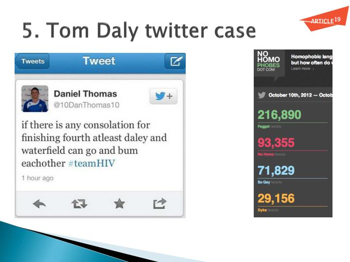 5. Tom Daly twitter case