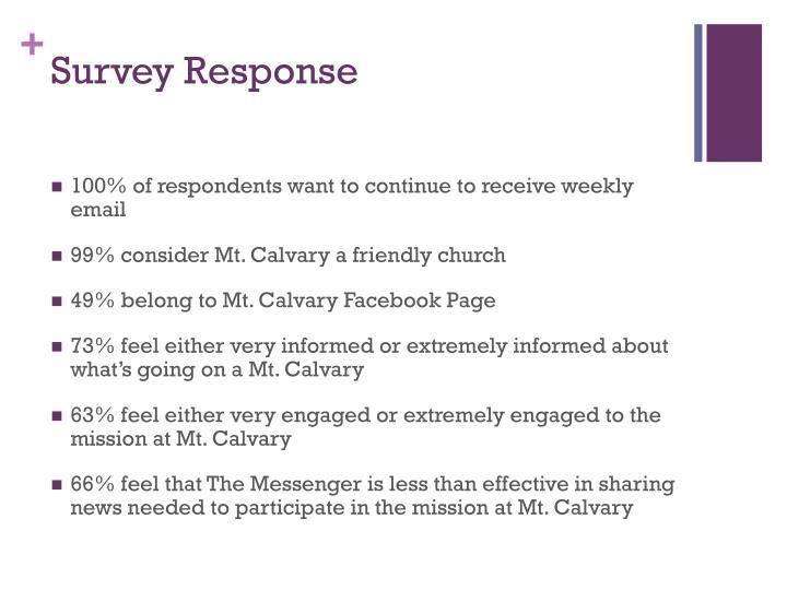 Survey Response