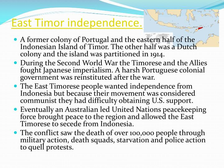 East Timor independence.