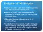 evaluation of tmh program1
