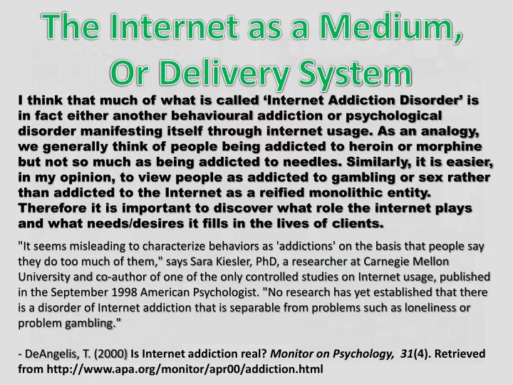 The Internet as a Medium,