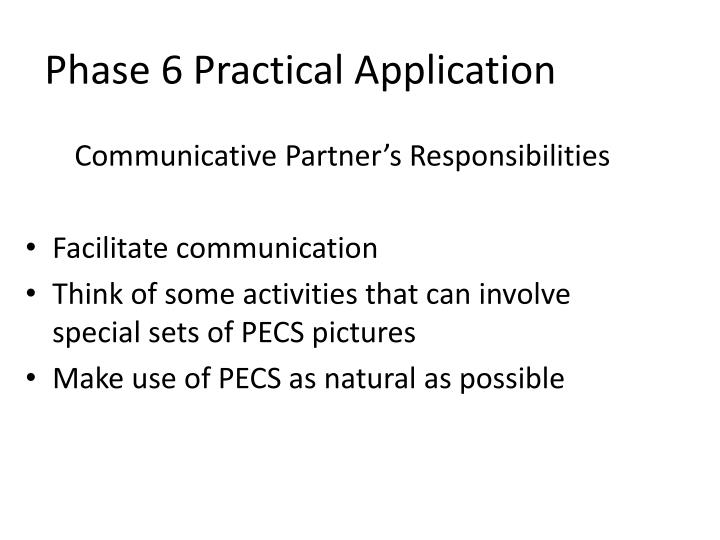 Communicative Partner's Responsibilities