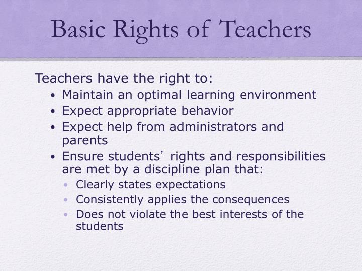 Basic Rights of Teachers