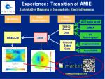 experience transition of amie assimilative mapping of ionospheric electrodynamics
