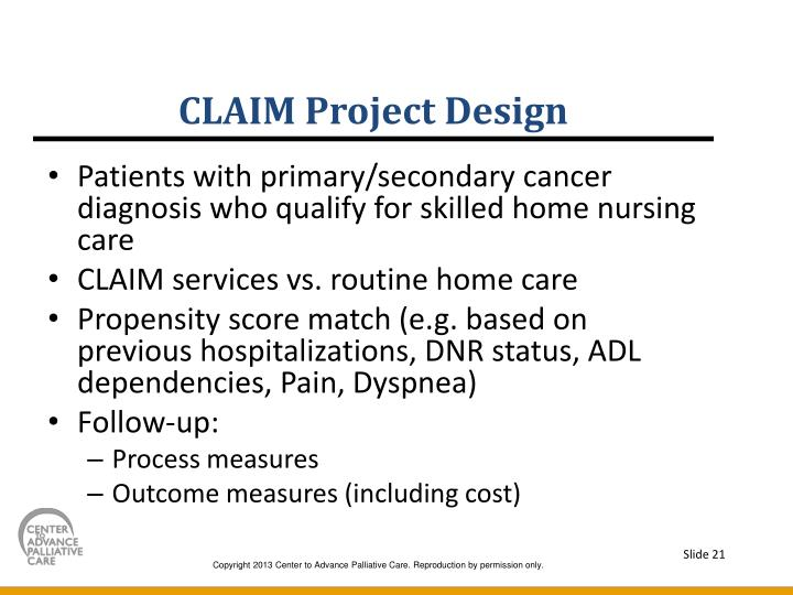 CLAIM Project Design