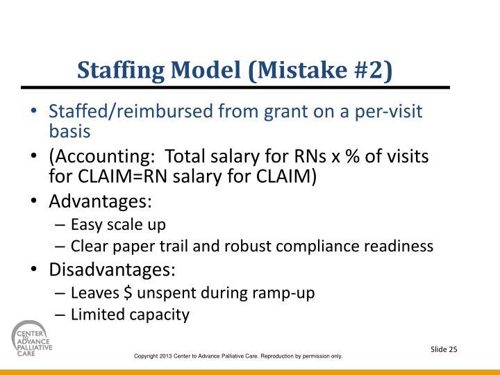 Staffing Model (Mistake #2)