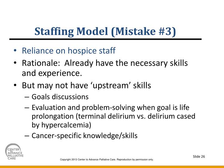 Staffing Model (Mistake #3)