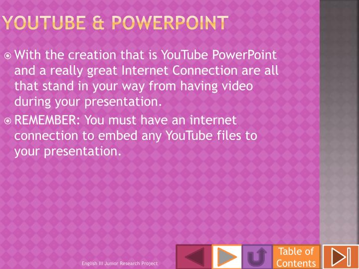 YouTube & PowerPoint