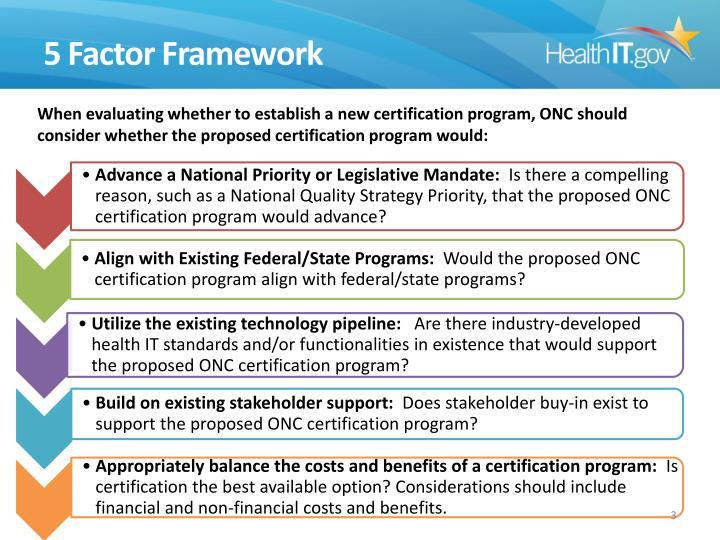 5 Factor Framework
