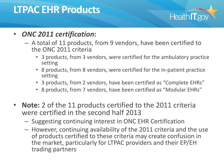 LTPAC EHR Products