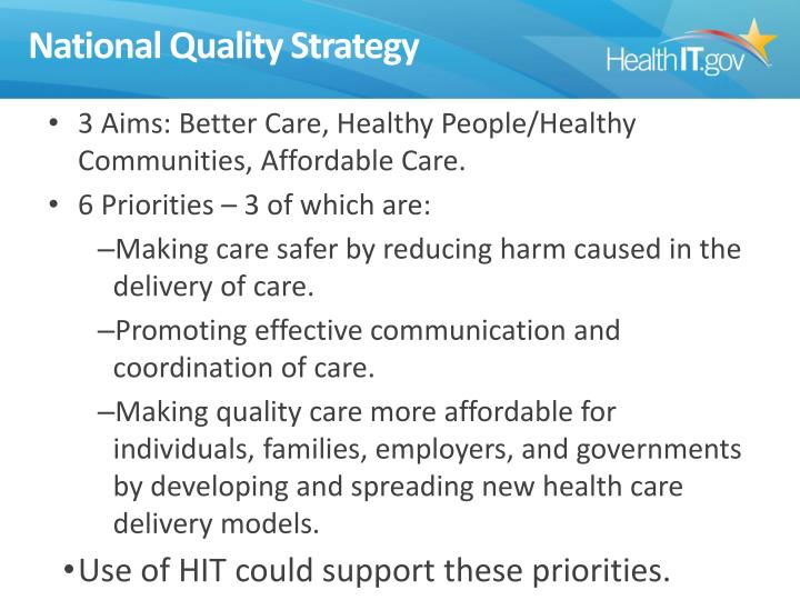 National Quality Strategy