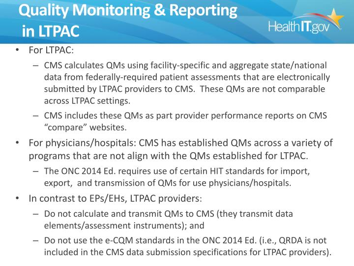 Quality Monitoring & Reporting