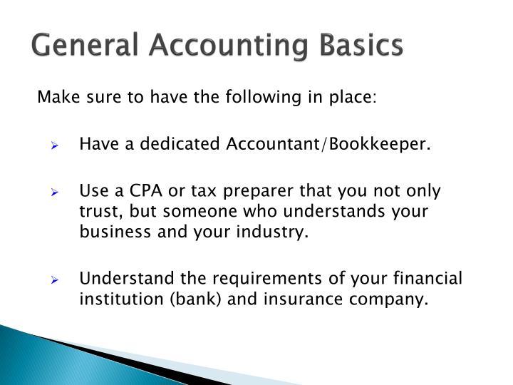 General Accounting Basics