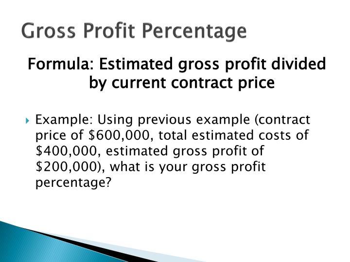 Gross Profit Percentage