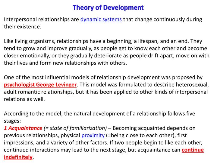 Theory of Development