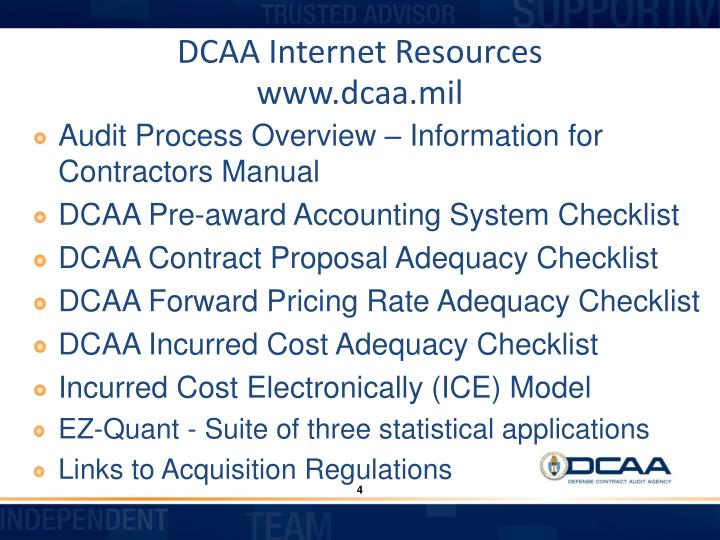 DCAA Internet Resources