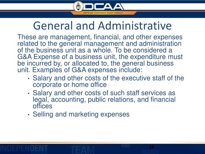 General and Administrative