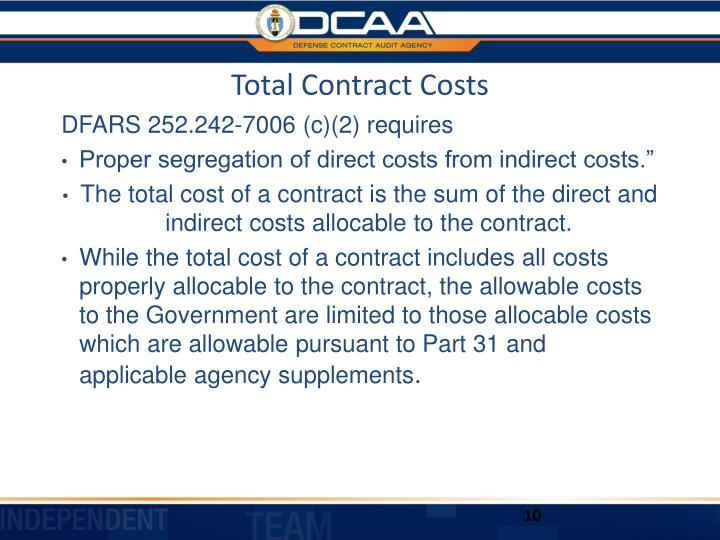 Total Contract Costs