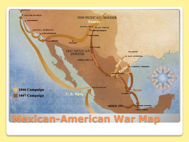 Mexican-American War Map
