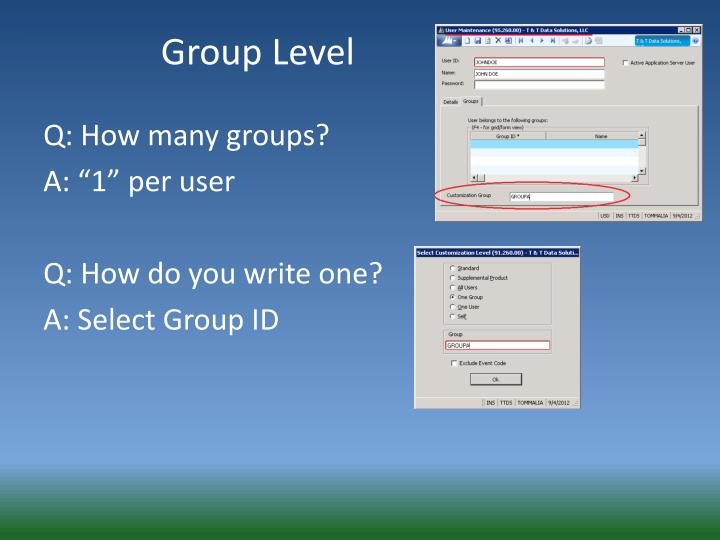 Group Level