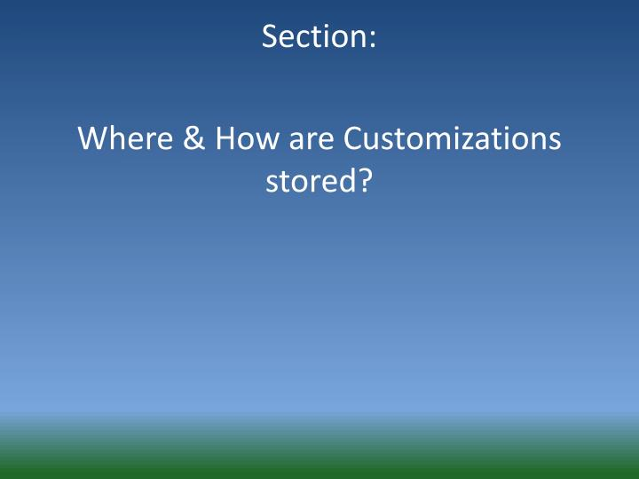 Section: