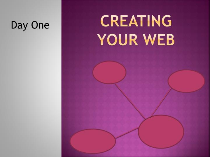 Creating your web