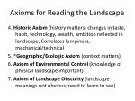 axioms for reading the landscape1