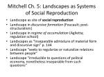 mitchell ch 5 landscapes as systems of social reproduction2