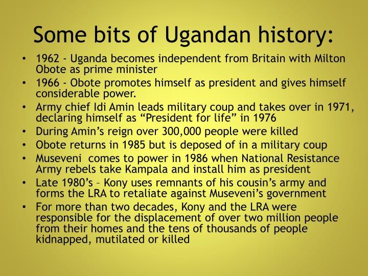 Some bits of Ugandan history: