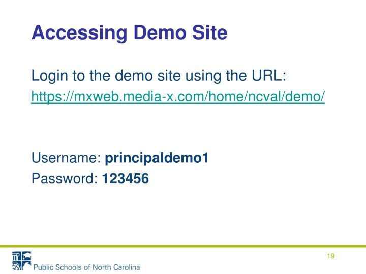 Accessing Demo Site