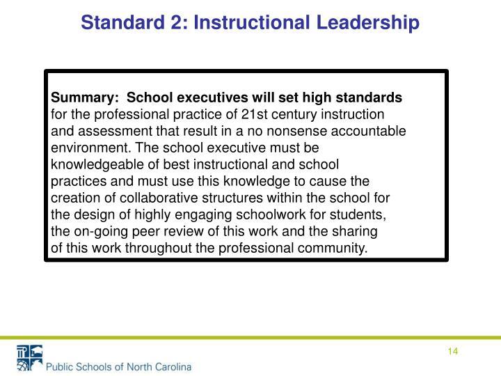 Standard 2: Instructional Leadership