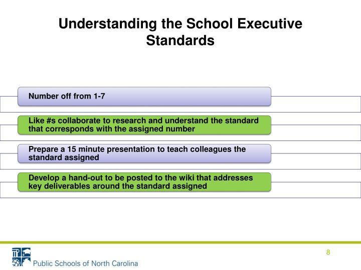 Understanding the School Executive Standards
