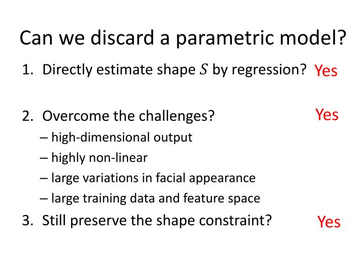 Can we discard a parametric model?
